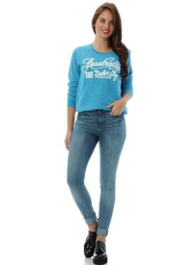 T-Box Sweatshirt Mavi